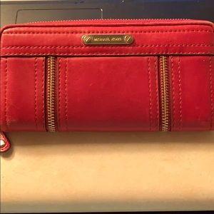 Authentic Michael Kors Large Zip Around Wallet